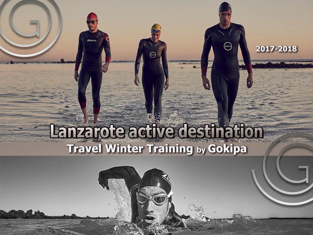 training lanzarote, swiming lanzarote, active lanzarote, gokipa active travel, open water